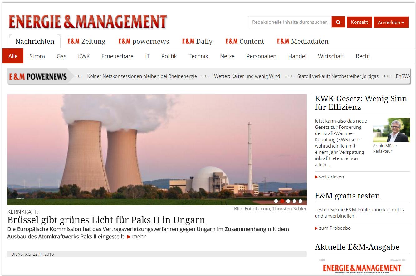 Energie und Management