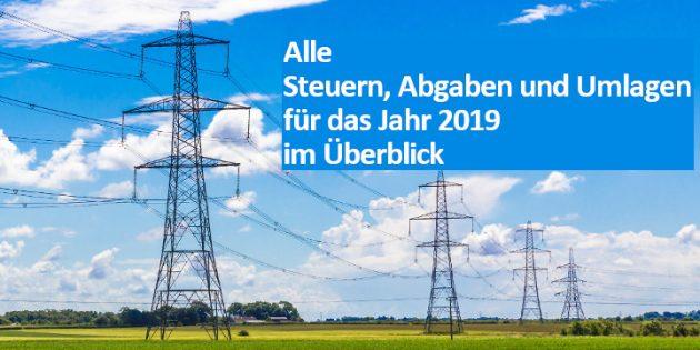 Gesetzliche Strompreisbestandteile 2019 Beitragsbild