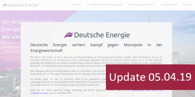 DEG Deutsche Energie GmbH neues Insolvenzverfahren