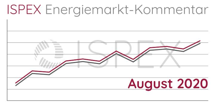 ISPEX Energiemarkt Kommentar August Strom Gas Erdgas